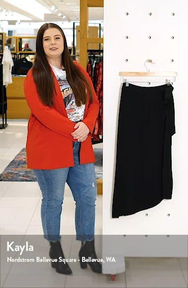 Asymmetrical Faux Wrap Skirt, sales video thumbnail