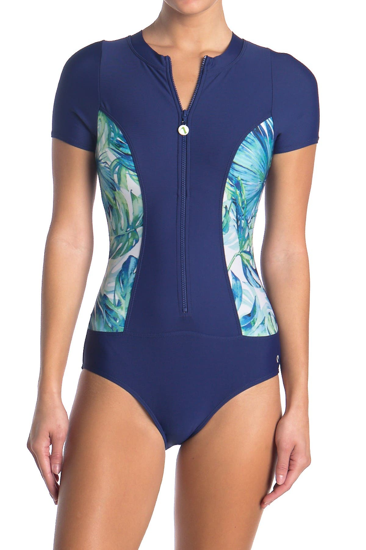 Image of NEXT Staycation Zip One-Piece Swimsuit