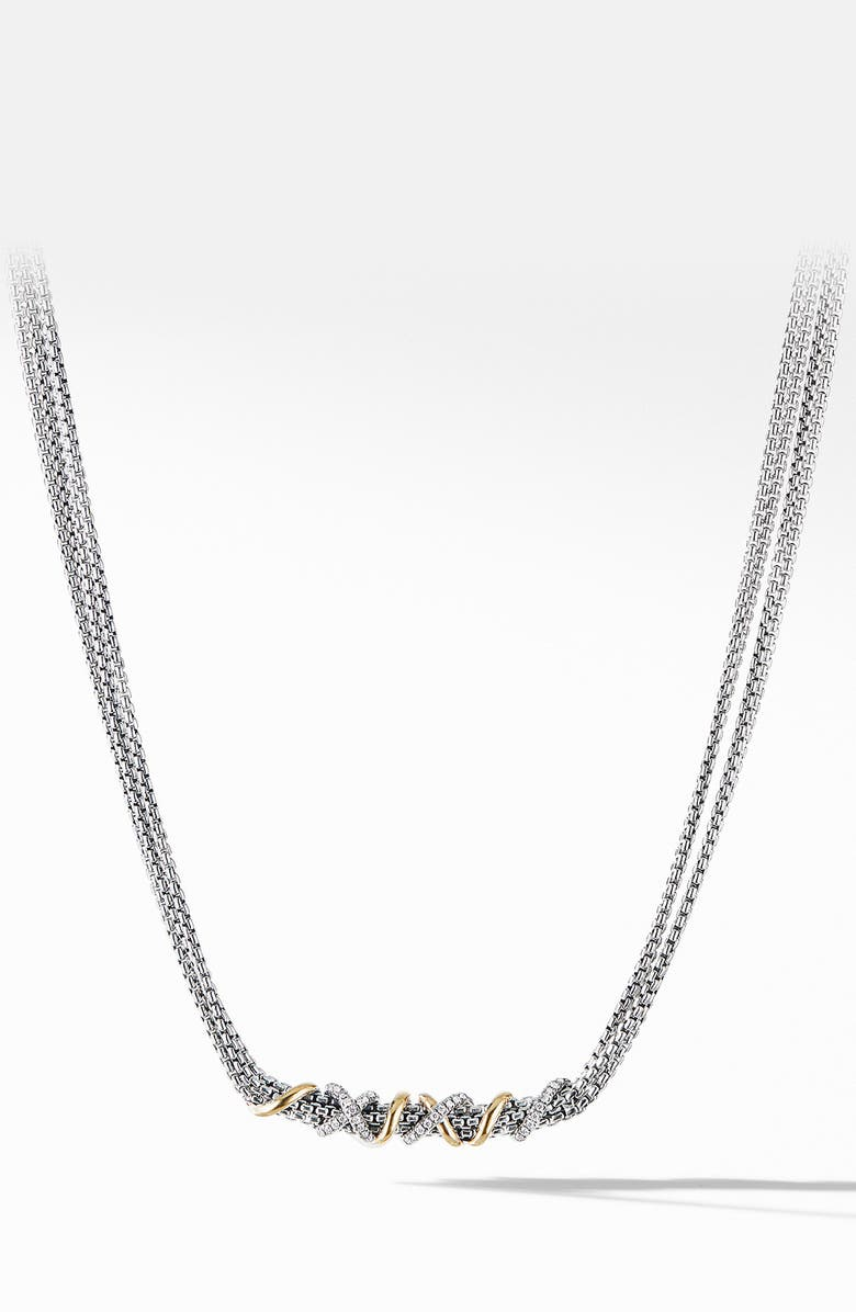 DAVID YURMAN Helena Short Necklace with 18K Yellow Gold and Diamonds, Main, color, GOLD/ DIAMOND