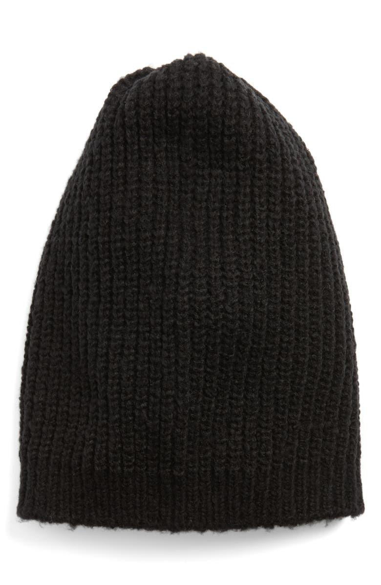 HALOGEN<SUP>®</SUP> Ribbed Beanie, Main, color, 001