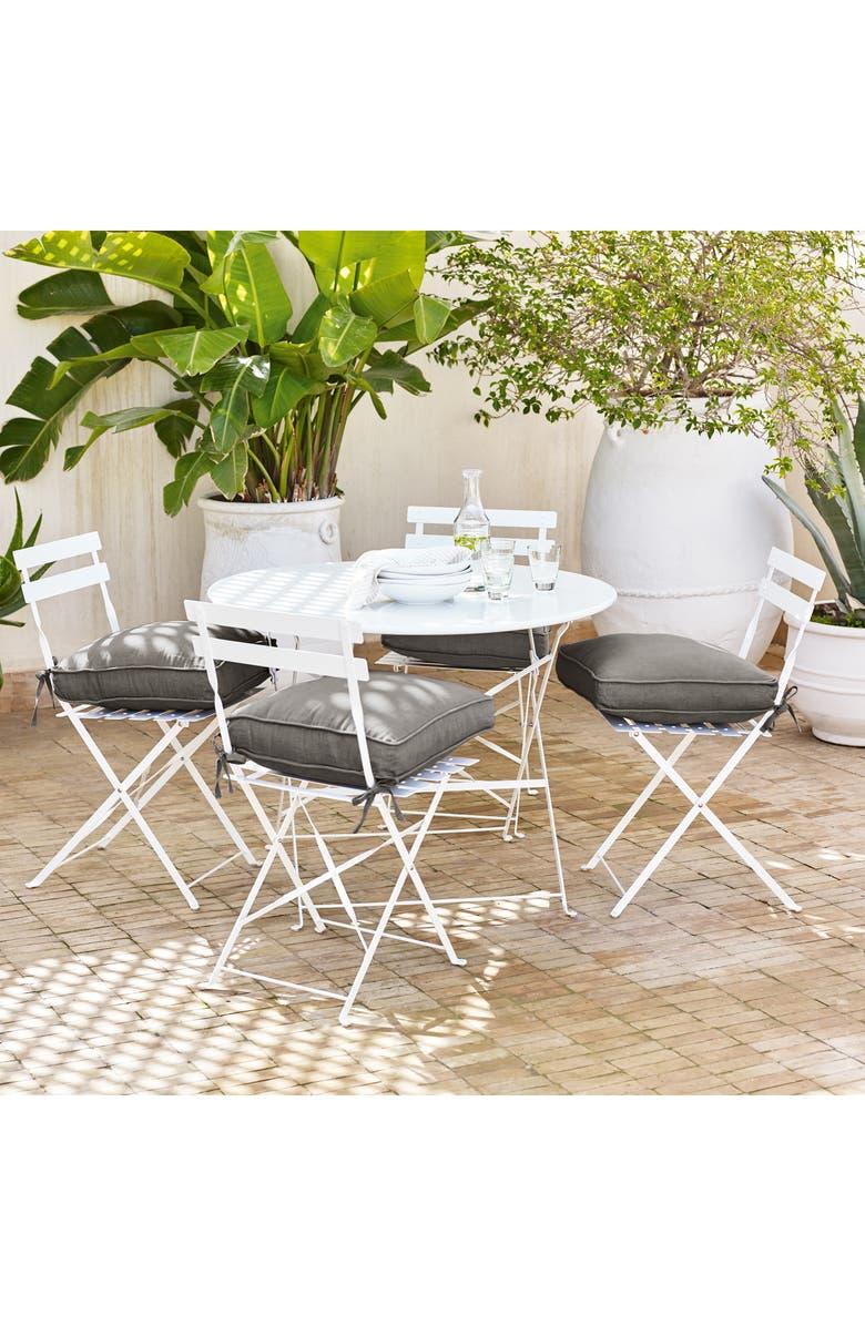Terrific Aubrey Grey Chambray Cotton Linen Seat Pad Home Interior And Landscaping Staixmapetitesourisinfo