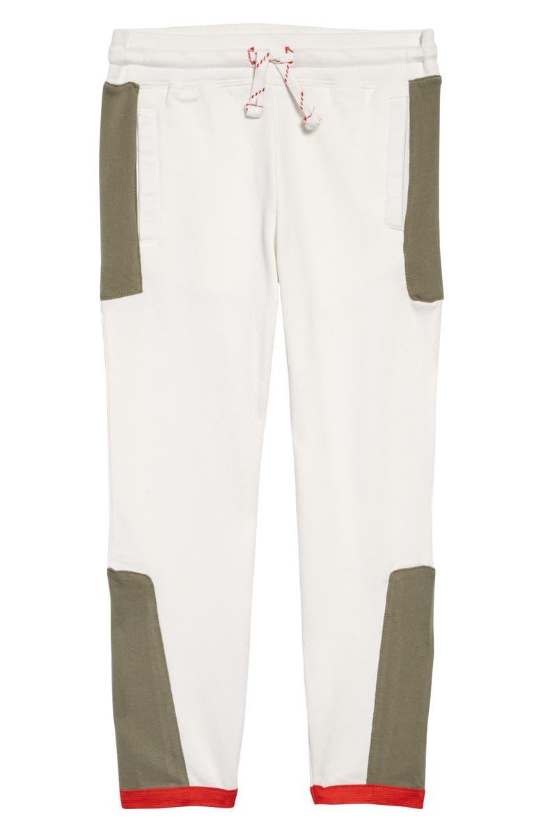THREADS 4 THOUGHT Contrast Panel Jogger Pants, Main, color, ECRU / ARTICHOKE