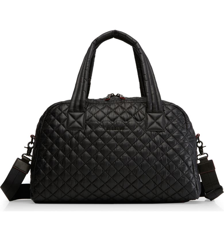 MZ WALLACE Jimmy Travel Bag, Main, color, BLACK