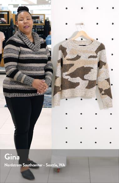 Camo Jacquard Crewneck Sweater, sales video thumbnail