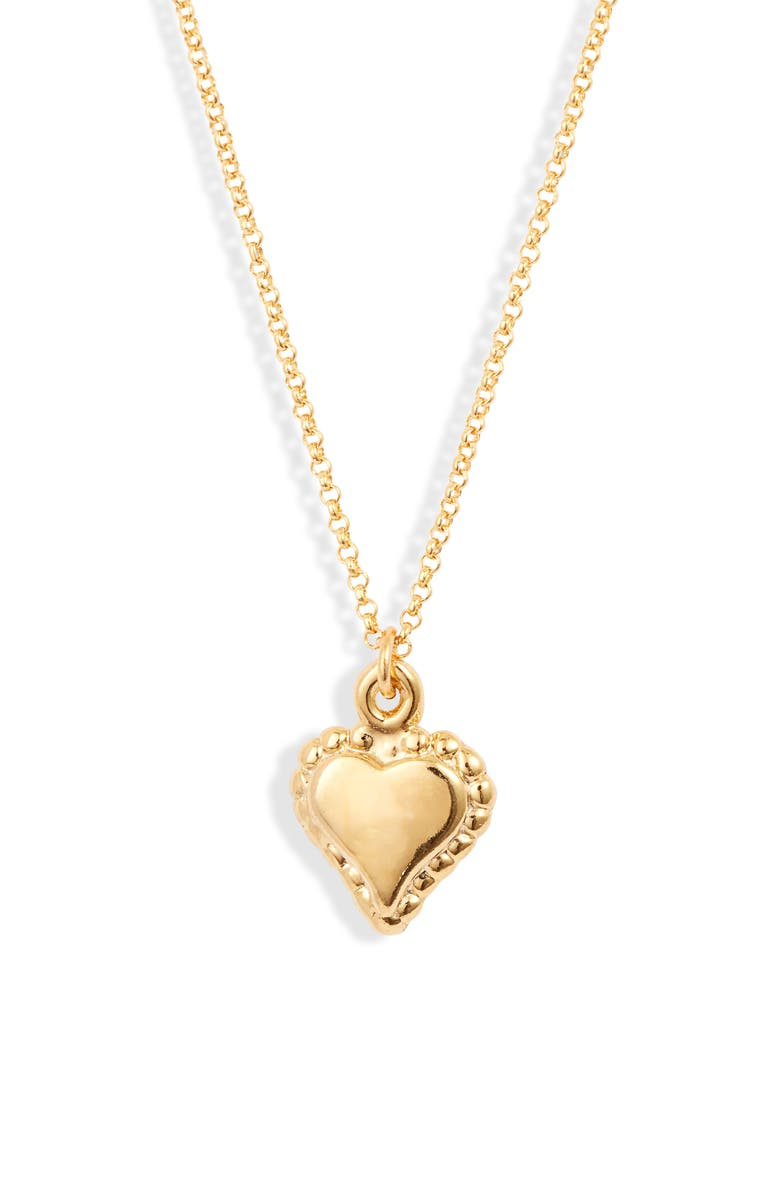 LUX DIVINE Heart Pendant Necklace, Main, color, GOLD/ HEART