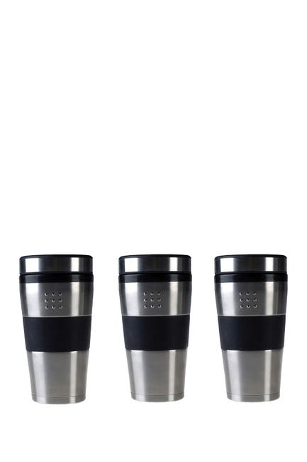 Image of BergHOFF Orion Stainless Steel 16oz. Travel Mug - Set of 3