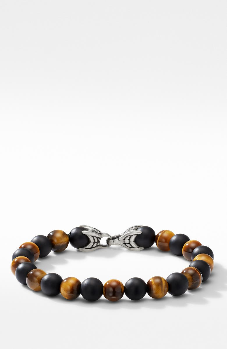 DAVID YURMAN Spiritual Beads Bracelet with Black Onyx and Tigers Eye, Main, color, TIGERS EYE
