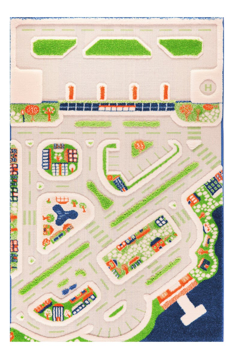 LUCA AND CO Mini City Play Rug, Main, color, MULTICOLOR
