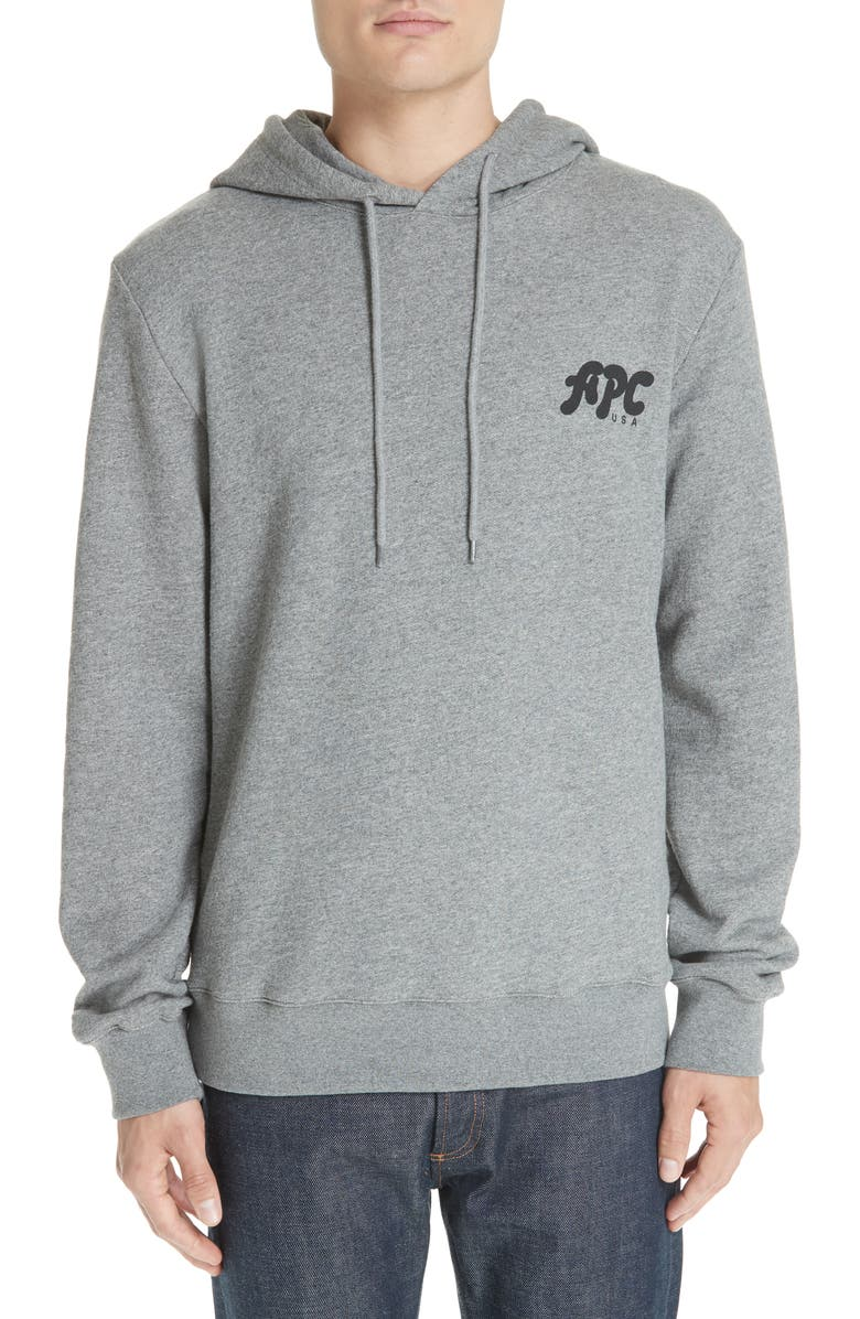 A.P.C. New Logo Graphic Hoodie, Main, color, 063