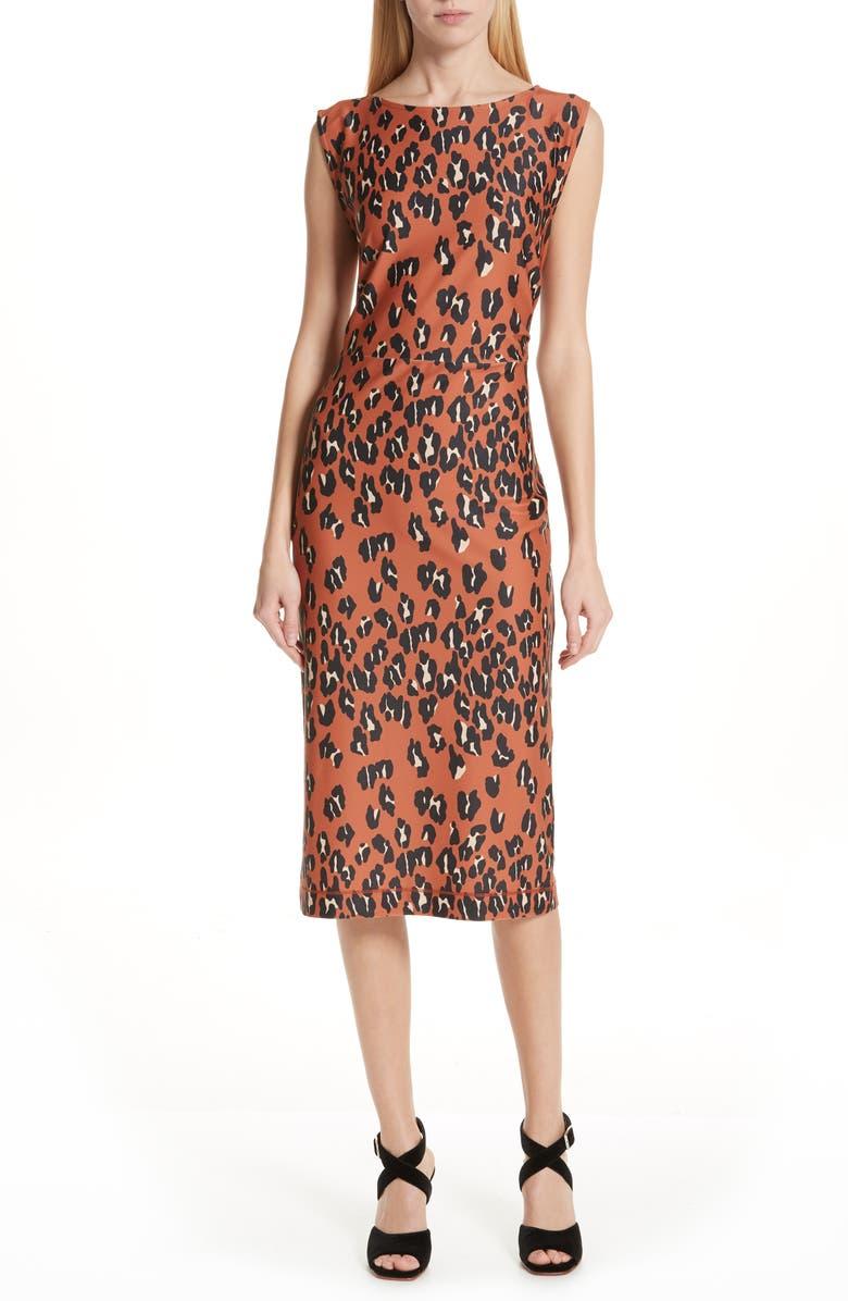 ea1da47f94d8e Rachel Comey Medina Leopard Print Sheath Dress | Nordstrom