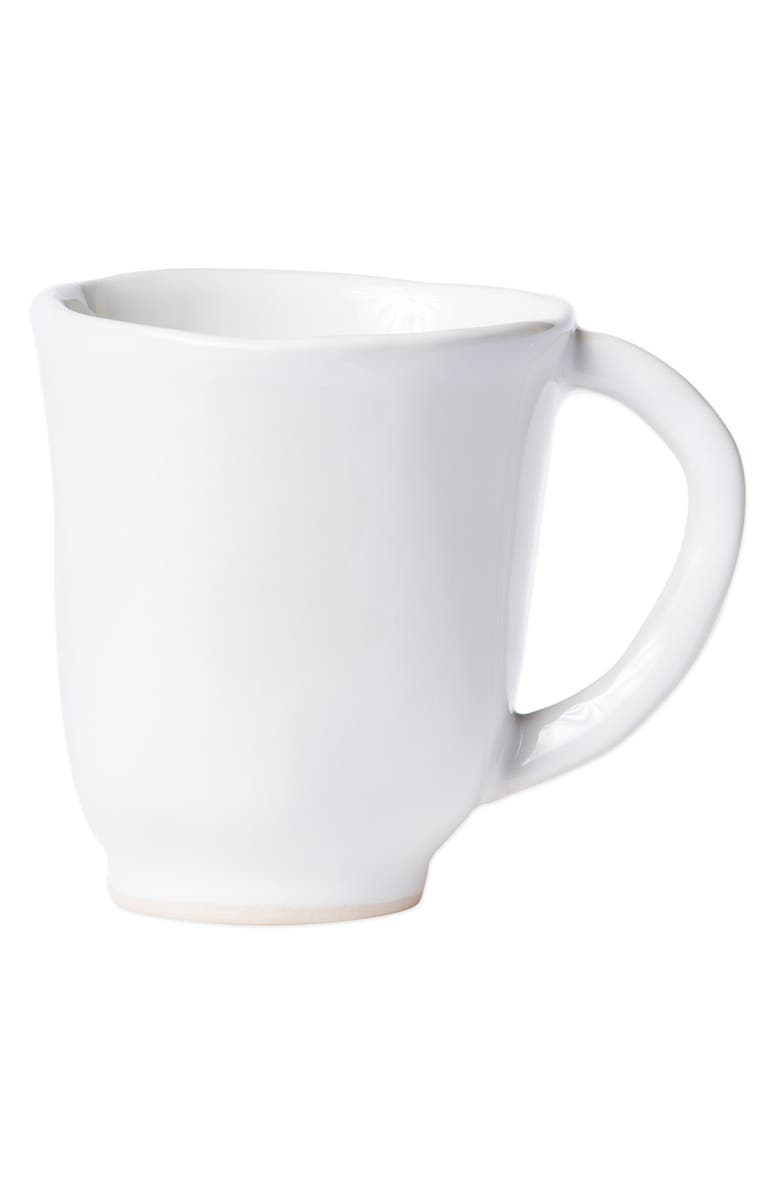VIETRI Aurora Stoneware Mug, Main, color, SNOW