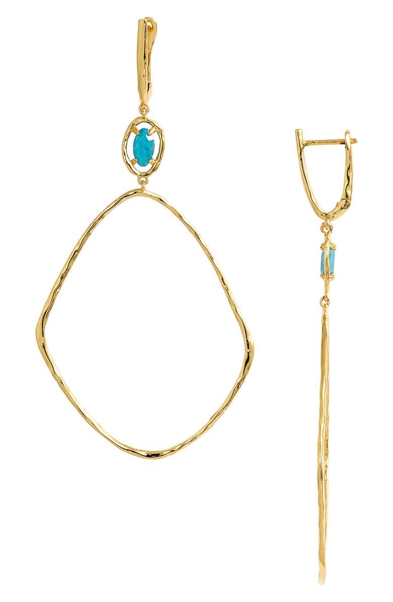 GORJANA Riviera Drop Earrings, Main, color, GOLD/ APATITE