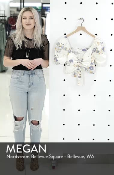 Cesena Puff Sleeve Crop Top, sales video thumbnail