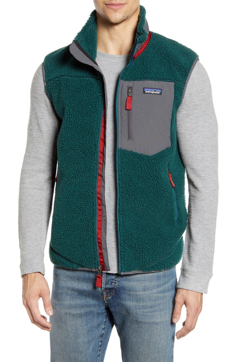 PATAGONIA Classic Retro-X<sup>®</sup> Windproof Vest, Main, color, PIKI GREEN