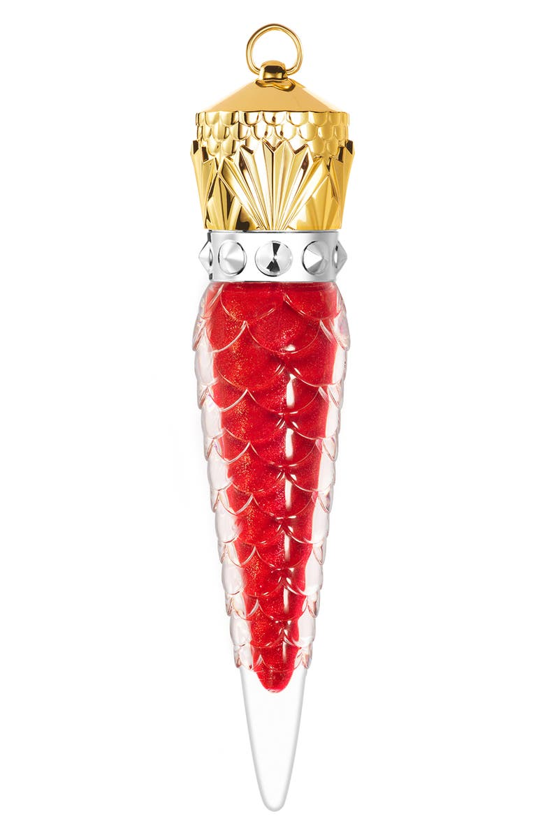 CHRISTIAN LOUBOUTIN Loubiglittergloss Glitter & Shine Lip Colour, Main, color, ROUGE LOUBOUTIN