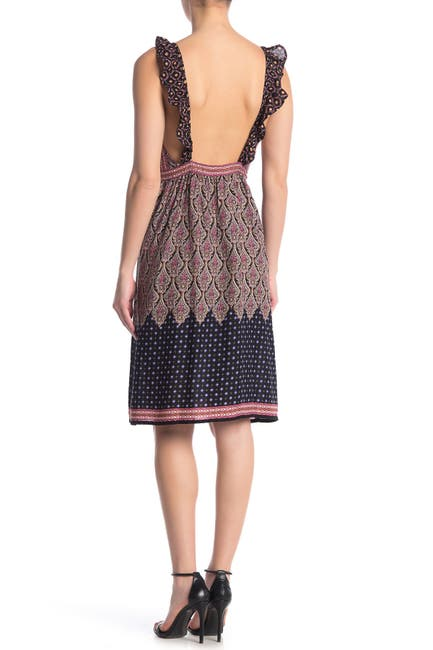 Image of RAGA Into The Horizon Ruffled Backless Dress