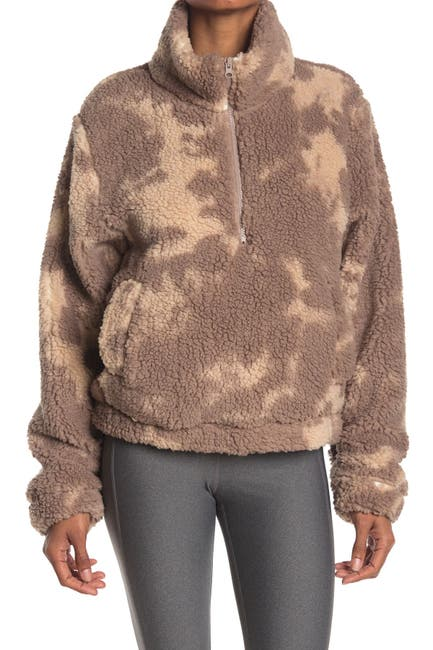 Image of SAGE COLLECTIVE Jet Setter Two-Tone Faux Shearling Jacket