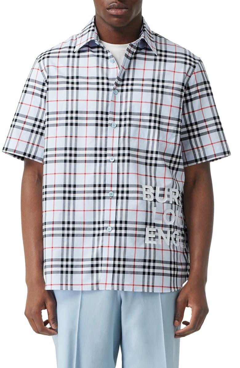 Sandor Vintage Check Print Cotton Shirt by Burberry