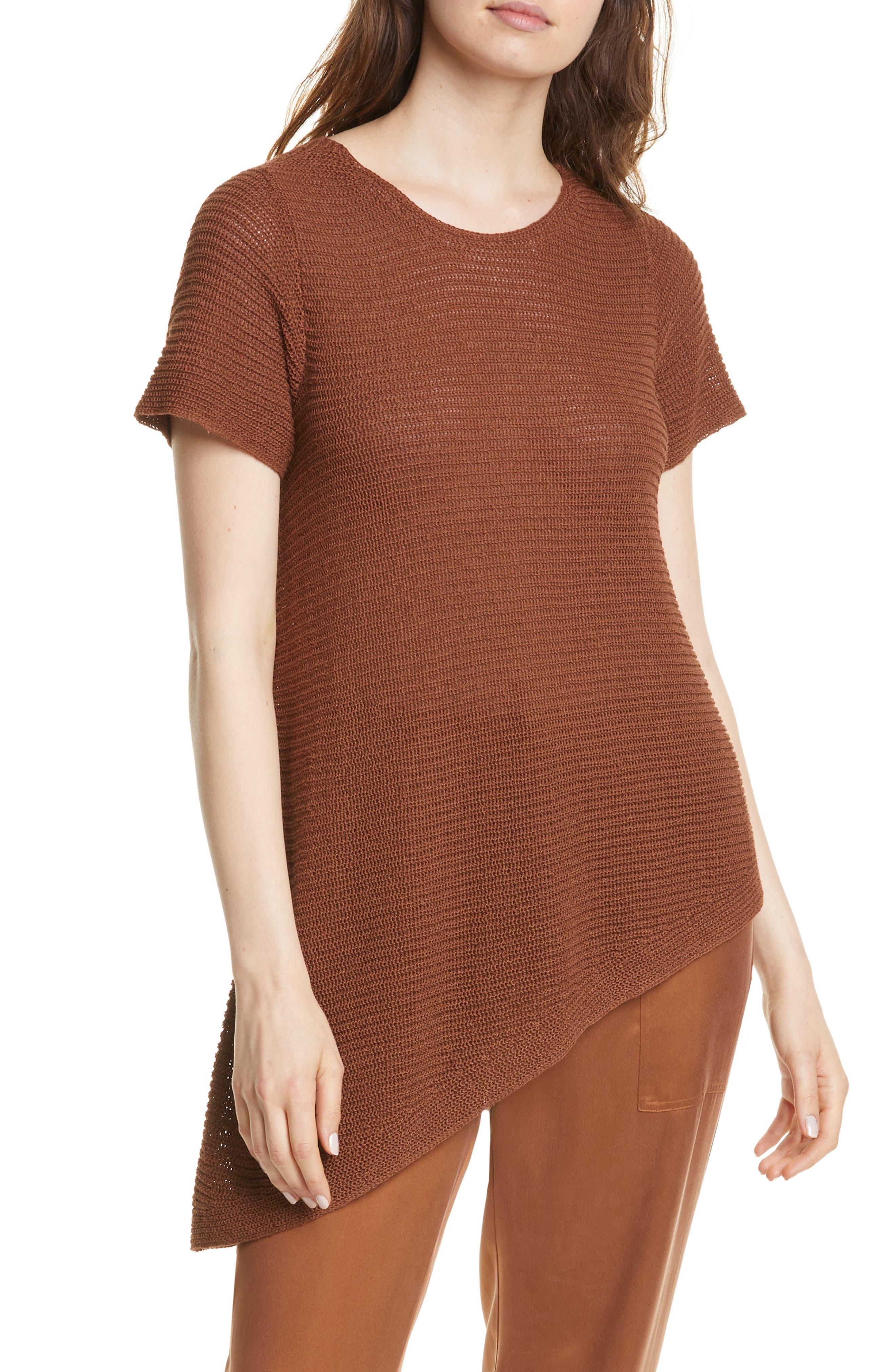 Eileen Fisher Asymmetrical Tunic (Regular & Petite)