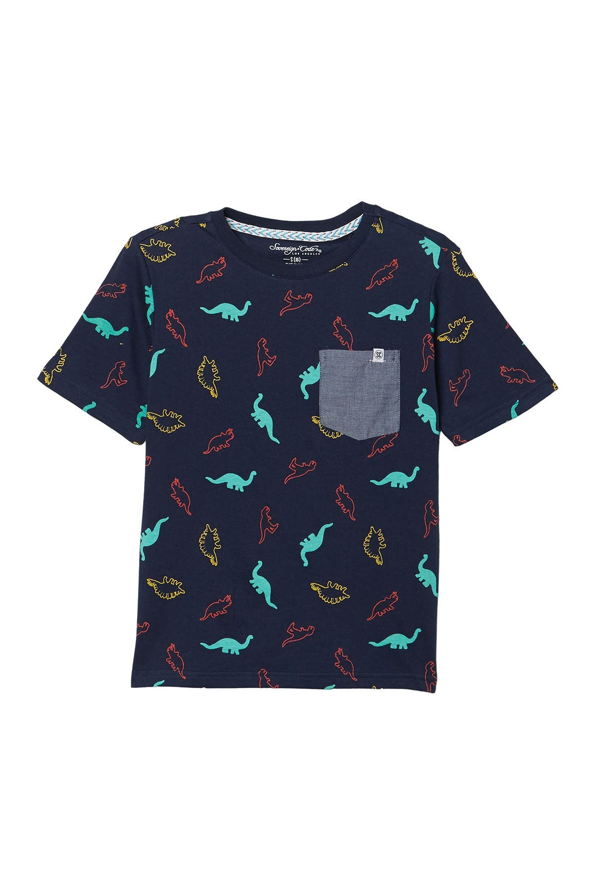 Image of Sovereign Code Travis Dinosaur Print Pocket T-Shirt
