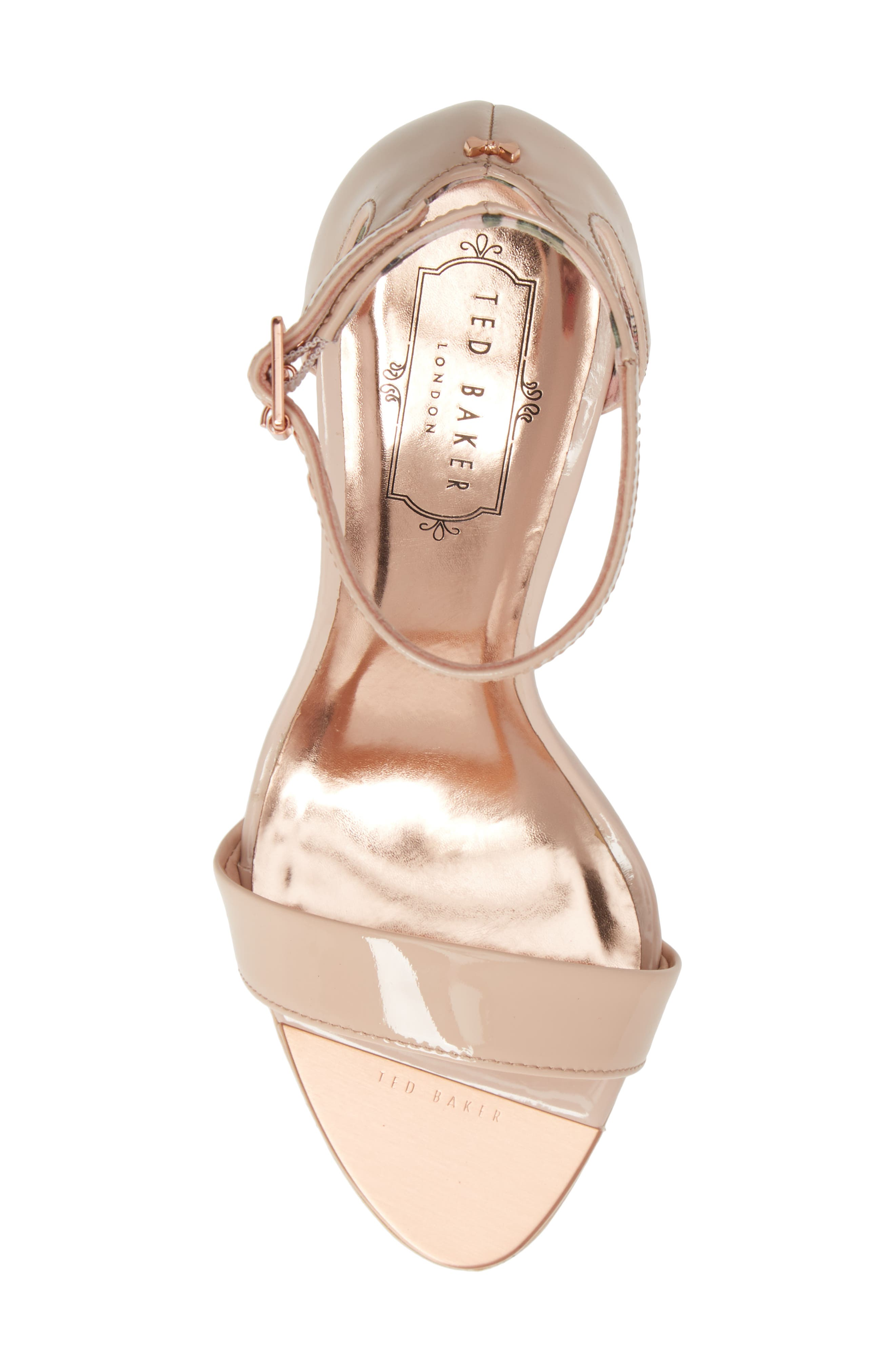 ,                             Ankle Strap Sandal,                             Alternate thumbnail 5, color,                             NUDE PATENT LEATHER