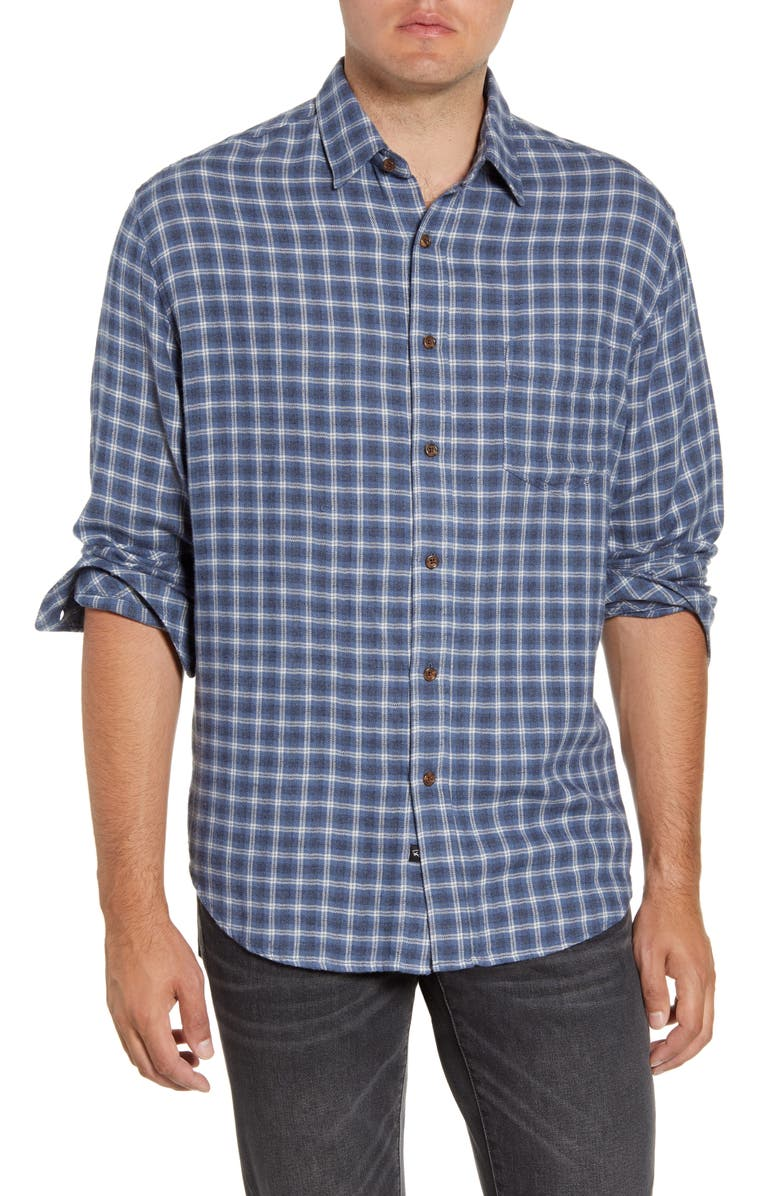 RAILS Lennox Regular Fit Plaid Button-Up Shirt, Main, color, HEATHER/ BLUE/ IVORY