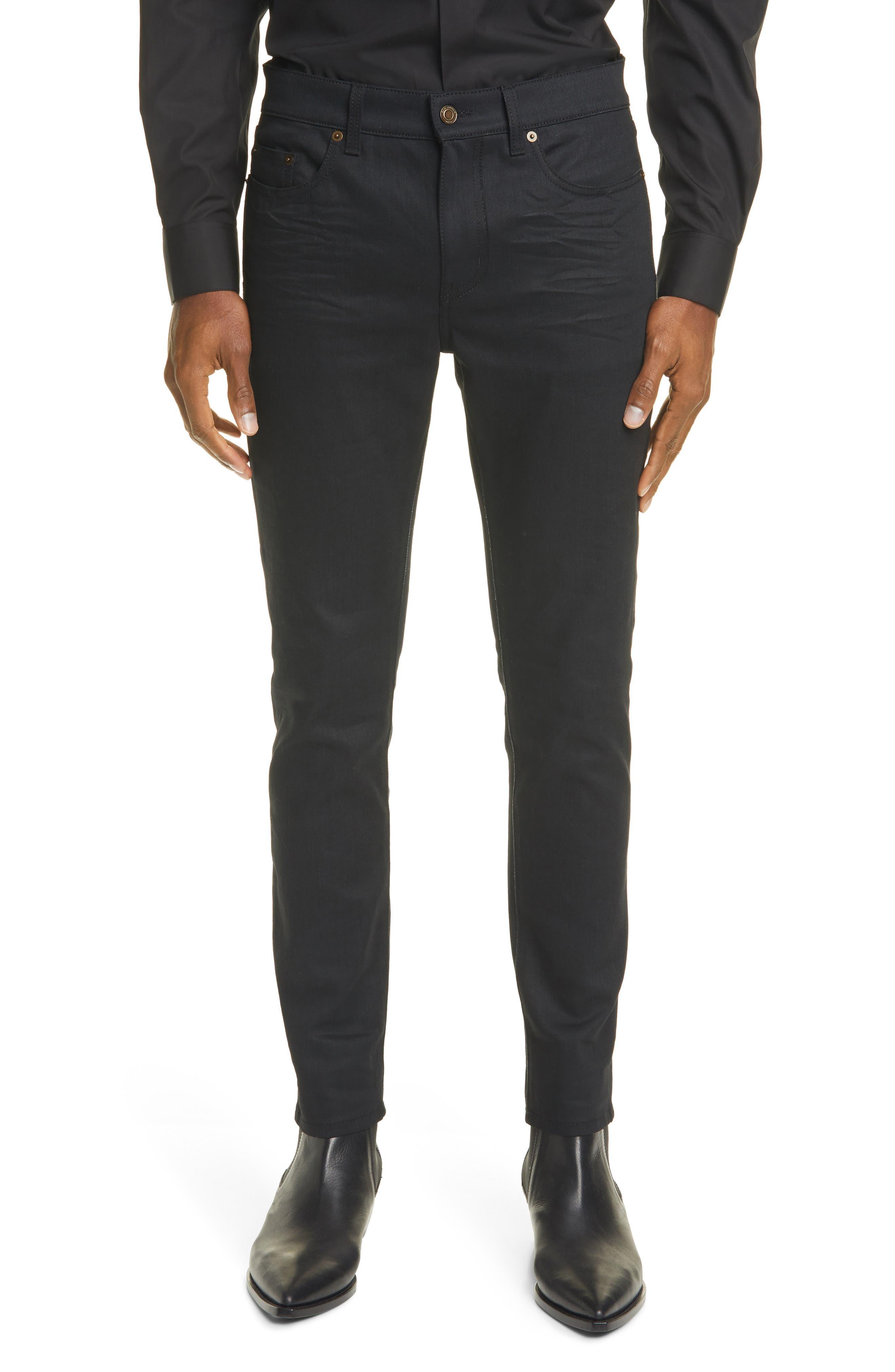 Men's Saint Laurent Skinny Fit Jeans,  31 - Black