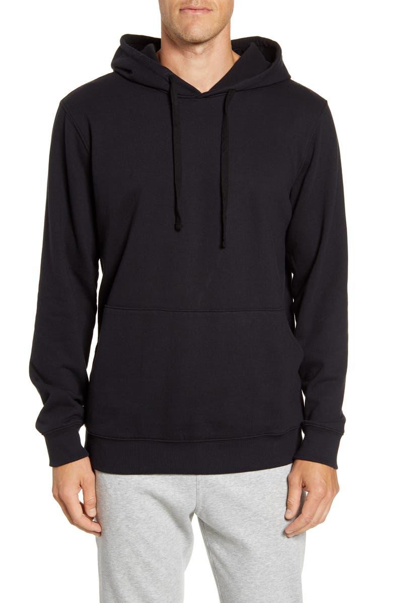 RICHER POORER Cotton Blend Hoodie, Main, color, BLACK