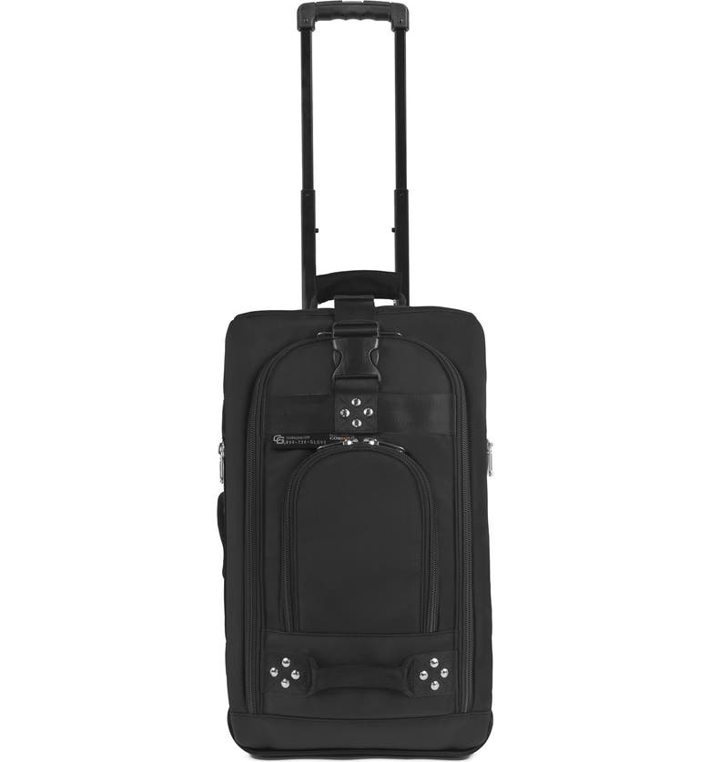 CLUB GLOVE <sup>®</sup> 'TRS Ballistic' Wheeled Carry-On, Main, color, BLACK/ BLACK