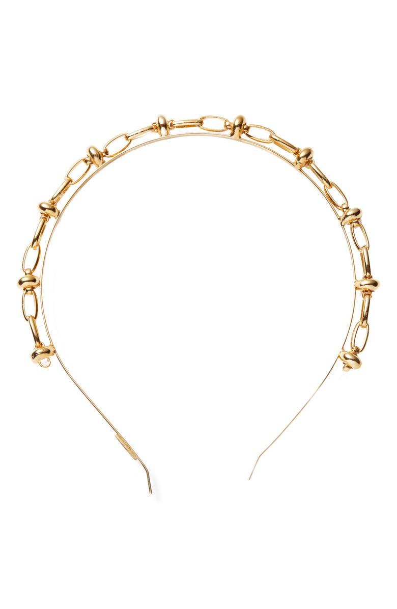 LELET NY Chain Link Headband, Main, color, 710