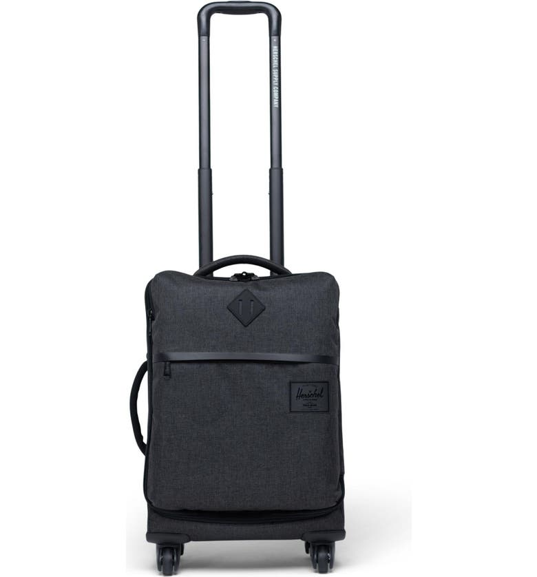 HERSCHEL SUPPLY CO. Highland 22-Inch Wheeled Carry-On, Main, color, BLACK CROSSHATCH