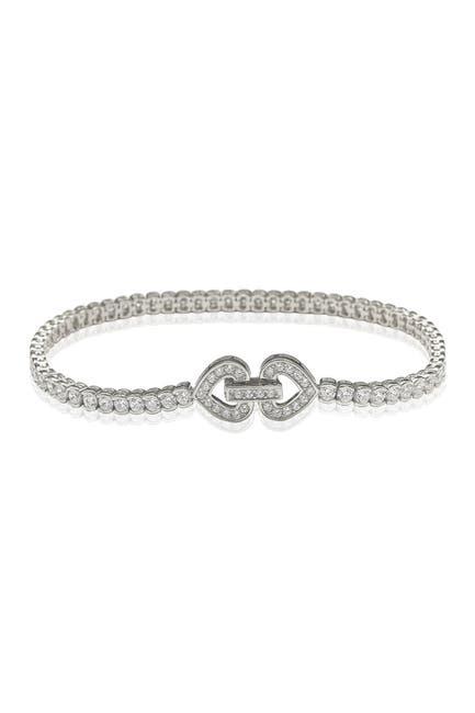 Image of Suzy Levian Sterling Silver Pave CZ Bracelet