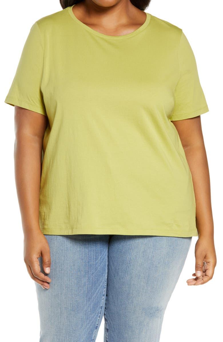 EILEEN FISHER Organic Cotton T-Shirt, Main, color, 340