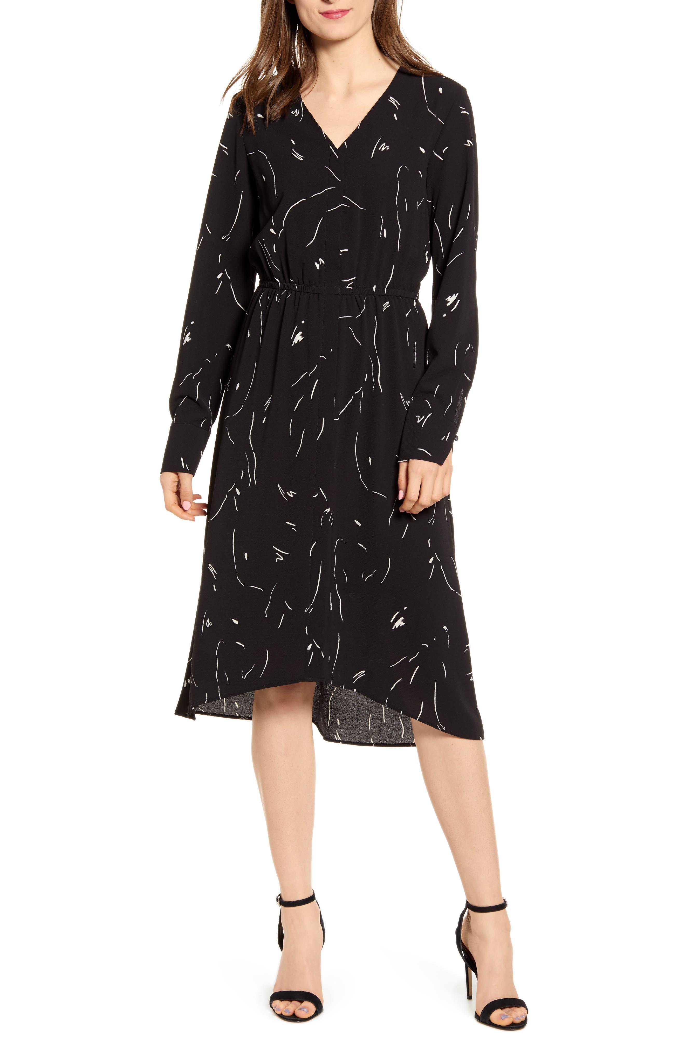 Vero Moda Gianna Midi Dress, Black