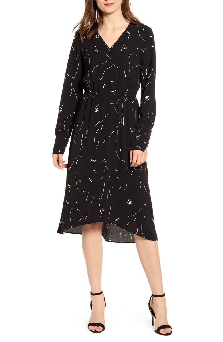 VERO MODA Gianna Midi Dress, Main, color, 001