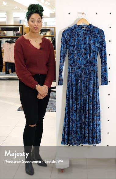 Heartland Long Sleeve Velvet Midi Dress, sales video thumbnail