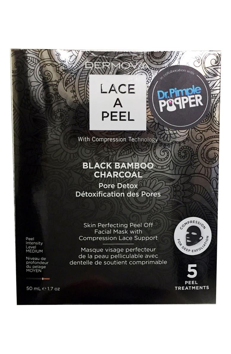 DERMOVIA Lace A Peel Black Bamboo Charcoal Peel Off Mask, Main, color, 000