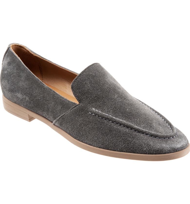 BUENO Galen Flat, Main, color, SLATE GREY SUEDE
