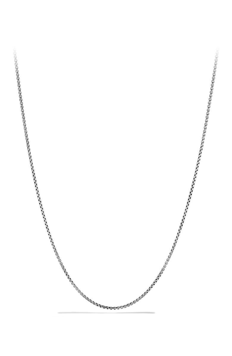 DAVID YURMAN 'Chain' Necklace, Main, color, SILVER