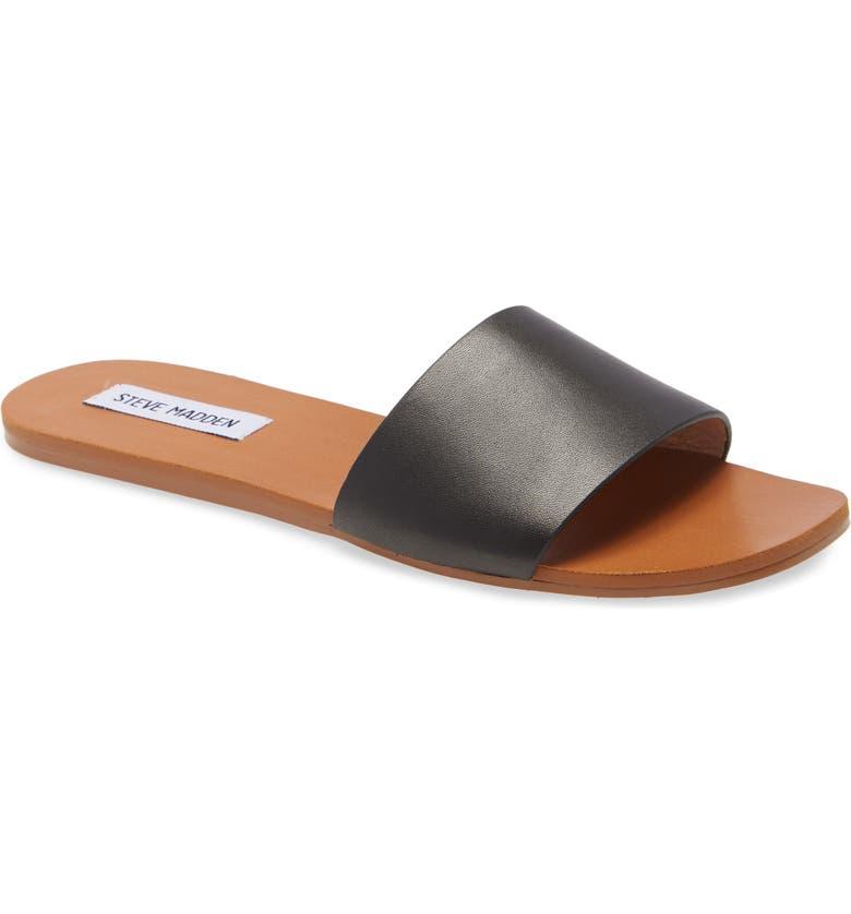 STEVE MADDEN Nikini Slide Sandal, Main, color, 001
