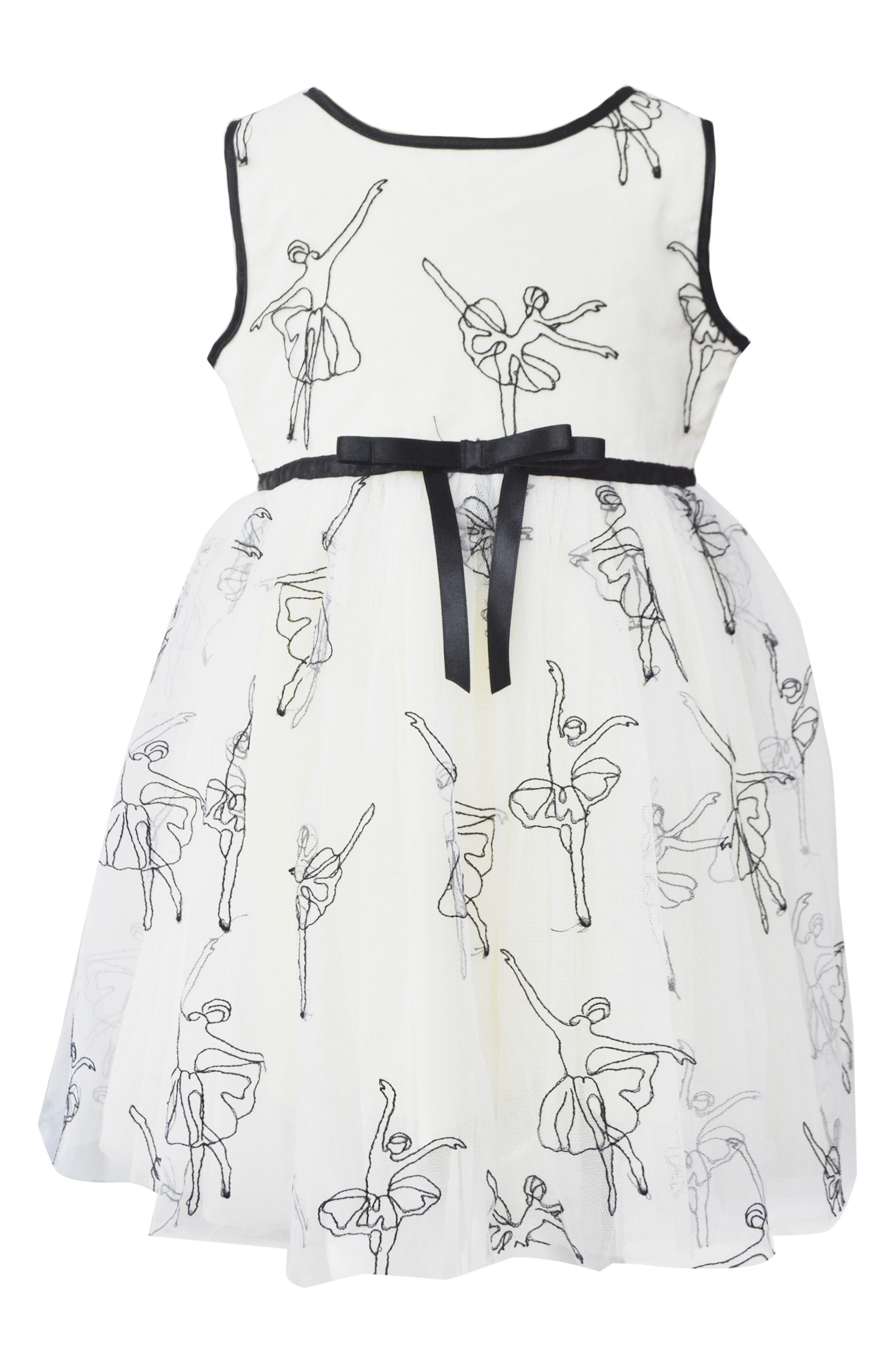 Image of Popatu Ballet Embroidered Tulle Dress