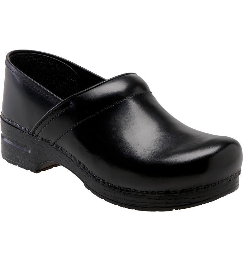 DANSKO 'Professional' Slip-On, Main, color, Black Cabrio