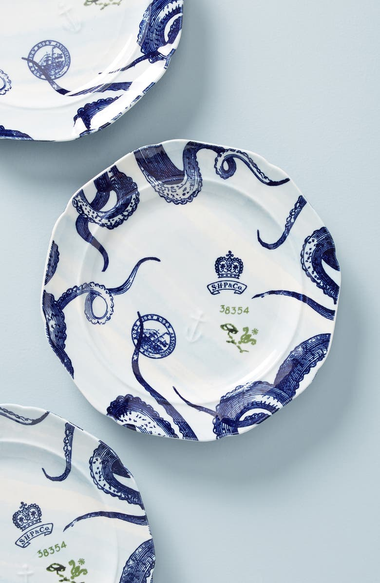ANTHROPOLOGIE From the Deep Dinner Plate, Main, color, BLUE 2