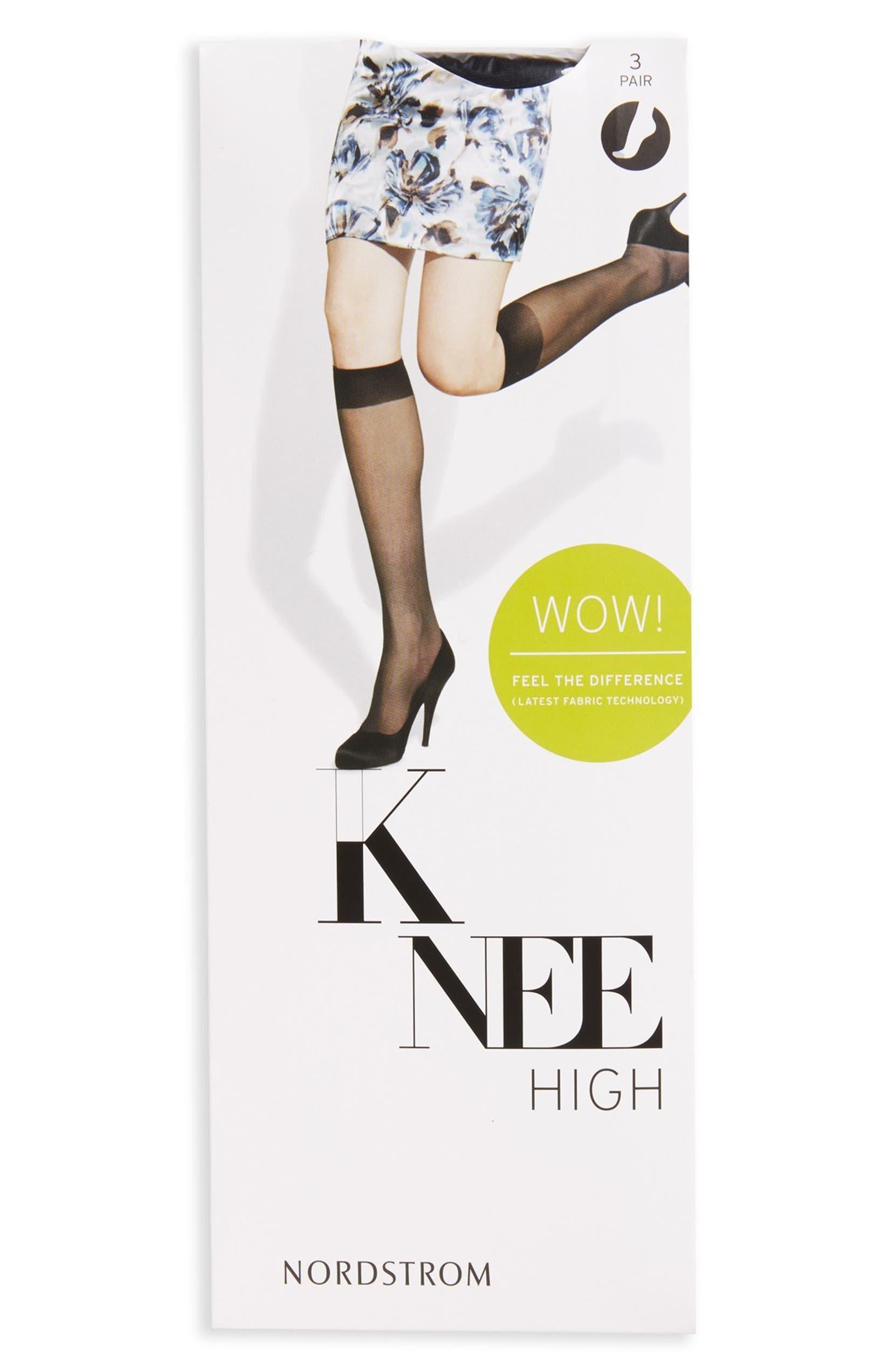 01ffec822 Nordstrom 3-Pack Sheer Knee Highs (3 for  36)