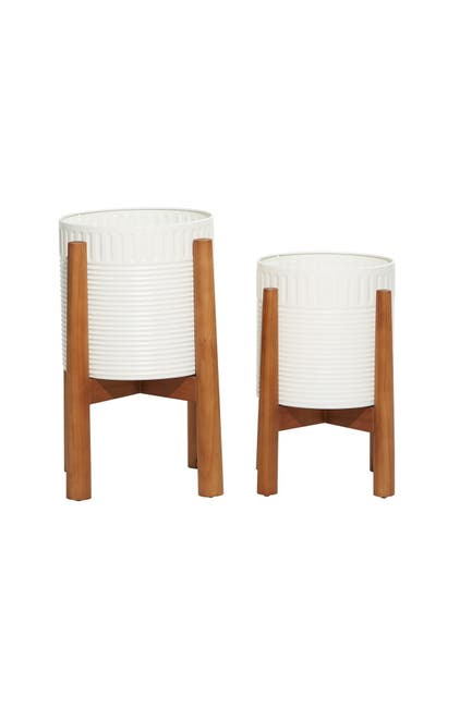 Willow Row White Metal Natural, Nordstrom Rack Outdoor Furniture