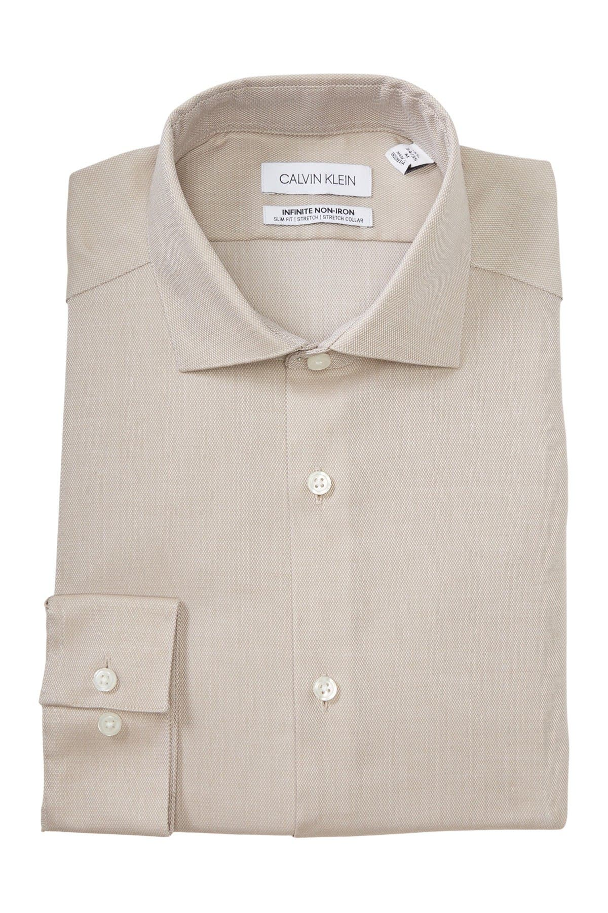 Image of Calvin Klein Infinite Non-Iron Slim Fit Dress Shirt