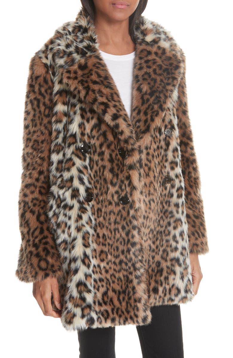 JOIE Tiaret Faux Fur Jacket, Main, color, OLD OAK