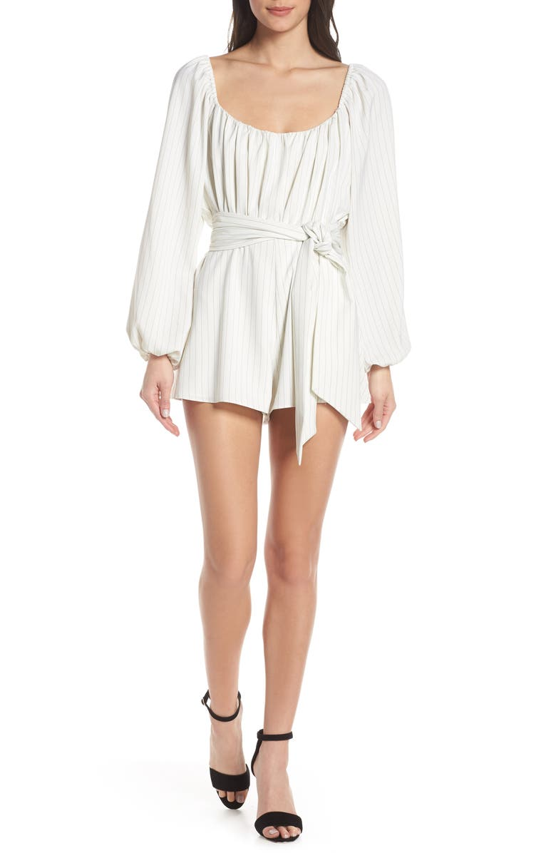 FINDERS KEEPERS Flamenco Convertible Neck Romper, Main, color, 901