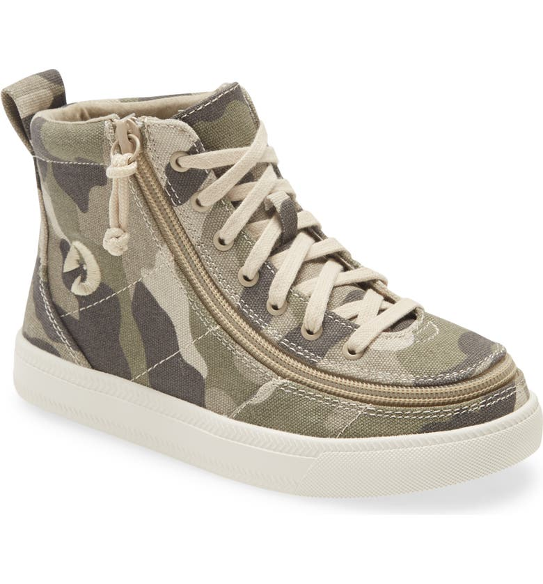 BILLY FOOTWEAR Classic Hi-Rise Sneaker, Main, color, NATURAL CAMO/ WHITE