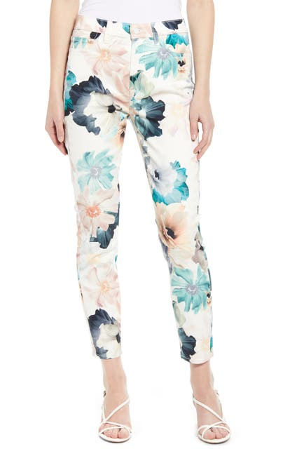 Image of 7 For All Mankind Print Ankle Skinny Jeans